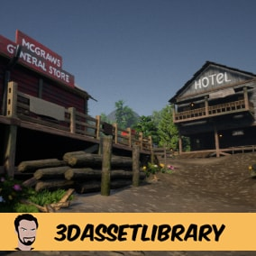 A Country style town with 100+ unique assets for Unreal Engine 4.20+