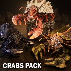 Here you can find three animated crabs with different meshes and textures.