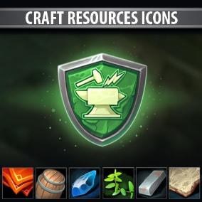 A set of 216 hand drawn Craft Resources Icons.