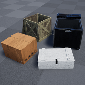 11 high-quality and customizable crates with PBR materials, most of them tileable.