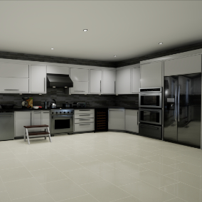 An Awesome collection of modular Kitchens with interiors including 50 premade ones.