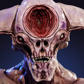 This creature is suitable for fantasy and horror games.  Looks equally good both on a spaceship and in an ancient dungeon.