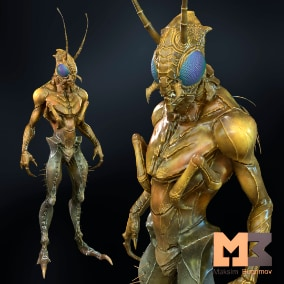 Hello, I present to you a great insect-style character.