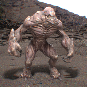 This monster can be used for a wide variety of genres, from enemy Shooters to Fantasy and Horror.