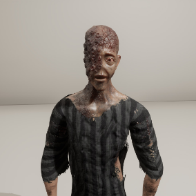 Creepy character ready for use in Horror Games