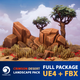 The full stylized package for UE4 and FBX files of our Crimson desert environment.