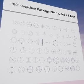 """""""60"""" Crosshair Package 2048x2048 / 64x64"""