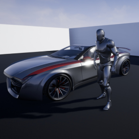 Crypto is a custom sports car with character interaction that you can use it in your projects.