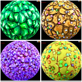 """""""crystal"""" pack of 13 stylized PBR materials"""