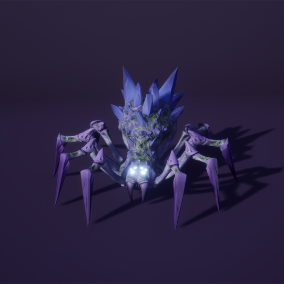 Crystal Spider low poly model