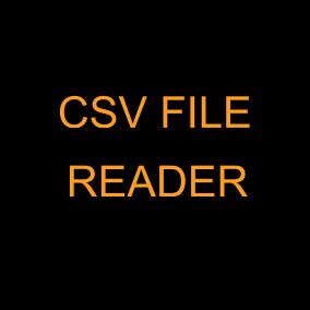 Read csv file in blueprint