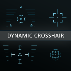 Customisable and dynamic Crosshair Pack (30 material instances presets). Crosshair Material which can be customised, animated and combined between each others without any difficulties.