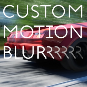 Apply custom motion blur to objects locally or scene-wide