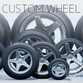 Customizable wheels made up of  skeletal meshes and animBP