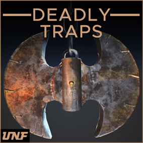 This pack contains multiple trap meshes and a complete Blueprint framework which makes them 100% drag and drop, ready to use in your games. From Spike traps, to Guillotines, this pack has it all!