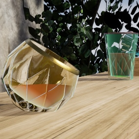 Quickly create blueprint controllable drinking glasses that can be filled with liquid and can have randomized properties.