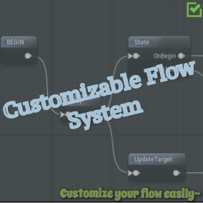 Customizable Flow System provides a basic framework to run a customized flow and an editor to edit the flow.