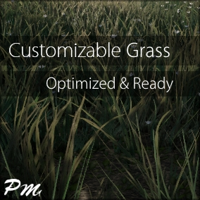 Customizable Grass is a customizable game-ready foliage pack and shader intended for beginners and professionals alike to either use as-is or as a framework for more advanced materials.