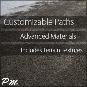 This pack includes 58 ground material instances that make it possible for you to combine and customize unique textures made for path creation. These textures include dirt, grass, cobblestone, sand, gravel, and snow.