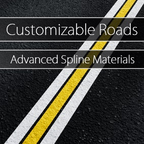 This pack includes 61 pavement material instances such as concrete, cobblestone, asphalt, cement, and tarmac, which can be customized to fit into your own unique environments, with or without lane markings.