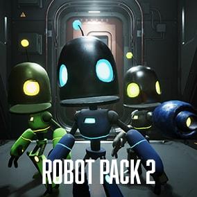Medium Customizable Animated Robot Character