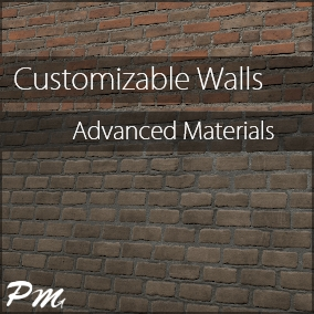 This asset pack contains 63 wall material instances with various settings that allow you to make and blend brick, moss, concrete, grunge, plaster, painted, stone, and popcorn walls.