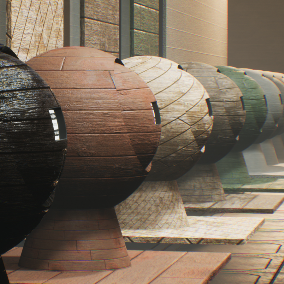 Customizable 20 PBR wood materials ready to use