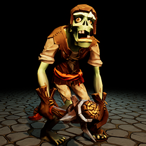 "Low poly model ""Customization Stylized Zombie"" was made for stylized games."