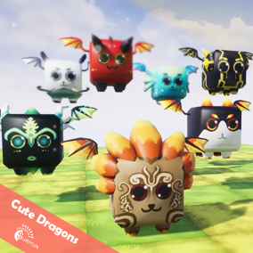 Cute Dragons 3D Characters With 5 Animations.