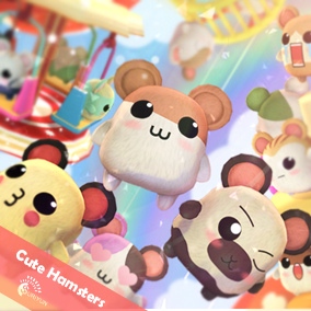 Cute Hamsters 3D Characters And 12 Animations.