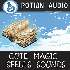 117 High-Quality cute magic sounds for videogame genres like jrpg, cartoon, anime, casual rpg, etc...