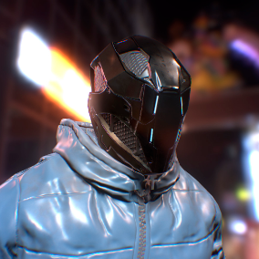 Character cyberhunter is perfect for a modern shooter
