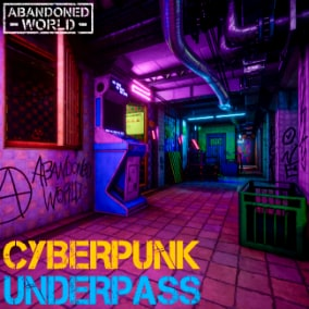 A set of modular elements to create an underground passage, as well as a set of props in the style of cyberpunk.