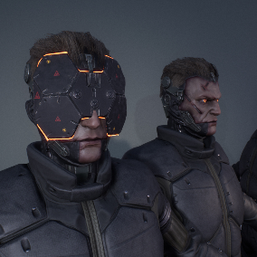 Sci-Fi style character with advanced material customisation