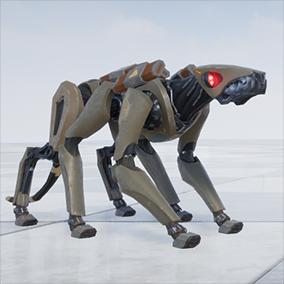 Robotic NPC with 11 animations