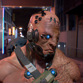 Character Cyberprisoner is perfect for a modern shooter