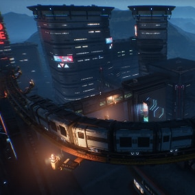 Everything you need to make cyberpunk cities. Over 270+ models, building blueprint system, 30+ blueprints that speeds up level creation, dynamic time of day system with rain weather options and example map with optimized lighting and landscape.