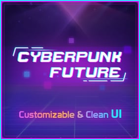 Cyberpunk Future UI Pack is a customizable, clean, cyber sci-fi UI Pack.It contains a complete set of demo and many UI elements.