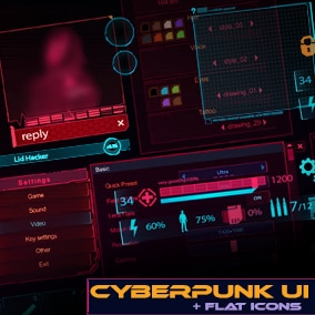 This asset is made for action RPG games in the cyberpunk style. Suits up to 4k resolution.