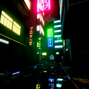 A pack of buildings and urban environments in the style of cyberpunk / early future