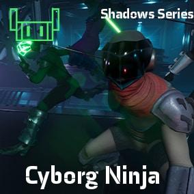 Ninja Cyborg With Sword and Animations Rigged to Unreal Skeleton