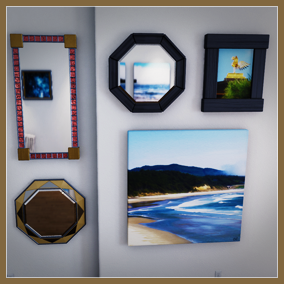 A set of customizable decorations for a variety of game styles and architectural visualization. Photos, paintings, disco balls and more.