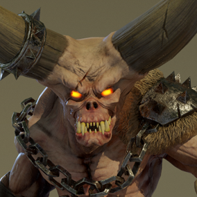 ***Included inside Demons Pack Vol 1*** Here is the Demon Brute. This evil and powerful warrior from the underworld will use all its mighty skills to cut your hero character into pieces!