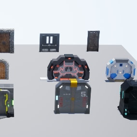 This is door package with blueprint to open/close.