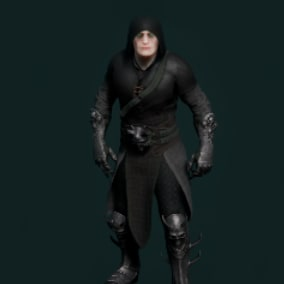 Dark knight low poly model for you games