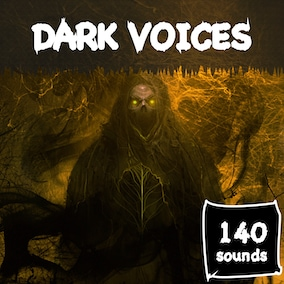 Library of voice-over phrase sounds in a dark style.