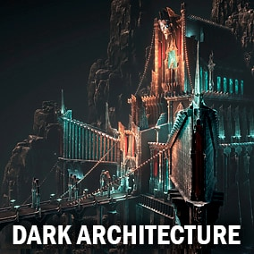 Here you can find a lot of classic evil architecture constructor elements and pregathered example scene (exterior only).