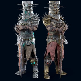 Medieval knight made in the style of dark fantasy