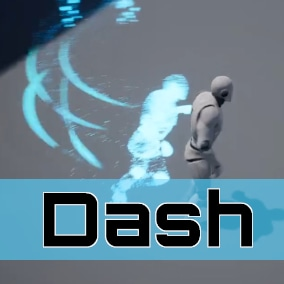 A dash ability that can climb up walls and run into characters.
