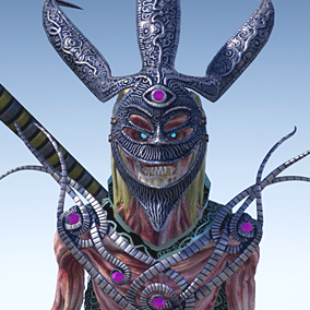 Low polygonal game ready animated model of dead shaman. Character is perfect to play NPC monster evil for a first person or 3rd person games.